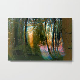Trippy Trees Metal Print