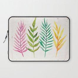 Colorful Botanical Leaves Laptop Sleeve