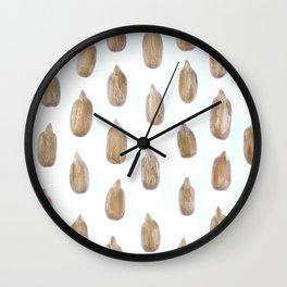 Sunflower Peeled Seeds Pattern Wall Clock