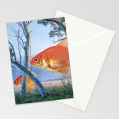 grazing goldfish Stationery Cards