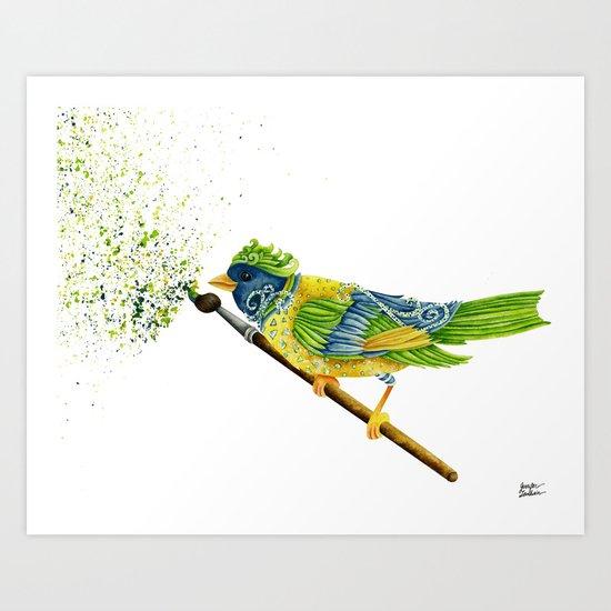 Feathers & Flecks Art Print