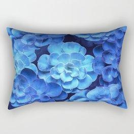 Succulent Plants In Blue Tones #decor #society6 #homedecor Rectangular Pillow