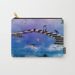 Music, piano with birds and butterflies Carry-All Pouch