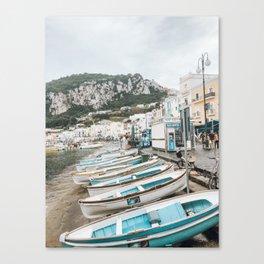 Capri Shoreline Canvas Print