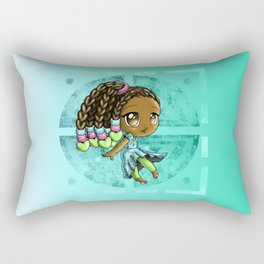 Happy African American Girl Rectangular Pillow