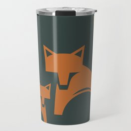 Foxes in the Harvest Travel Mug