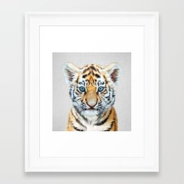 Baby Tiger - Colorful Framed Art Print