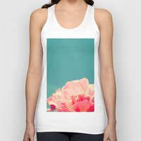 shabby chic Tank Tops featuring Shabby Chic Rose Photograph by Scarlett Ella