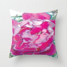 Pink Rose Pop Art Throw Pillow