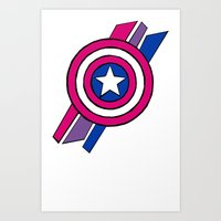 shield Art Prints featuring Shield by Shop 5