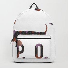 Posh Dachshund Family Backpack