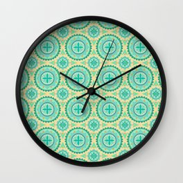 Ocean Blue Tile Wall Clock