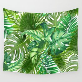 green tropic Wall Tapestry