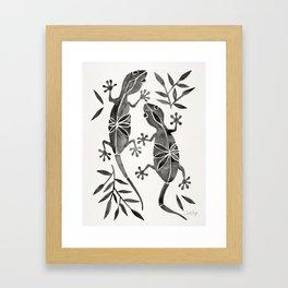 Geckos – Black Palette Framed Art Print