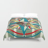 not all who wander are lost Duvet Covers featuring Not all those who wander are lost by milanova
