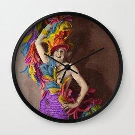 Feathers: Vintage Darlings Wall Clock