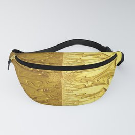 APOLLO - brilliant gold symmetrical fractal art light dark Fanny Pack