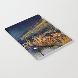 The Boulevard Montmartre At Night : Camille Pissarro Notebook