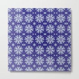 Frozen Snow Flakes Metal Print
