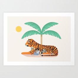 Tiger Paradise Art Print