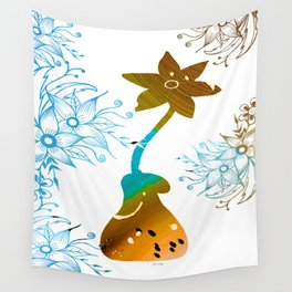 Colorful Art Flower Vase 2 Wall Tapestry