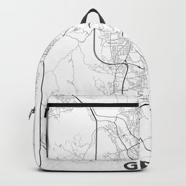 Minimal City Maps - Map Of Graz, Austria. Backpack