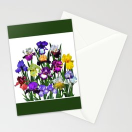 Iris garden Stationery Cards