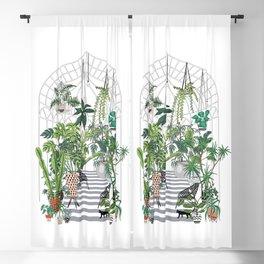 greenhouse illustration Blackout Curtain