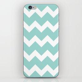 Chevron - Aqua iPhone Skin