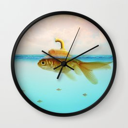 Submarine Goldfish Wall Clock
