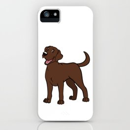 Happy Chocolate Lab iPhone Case