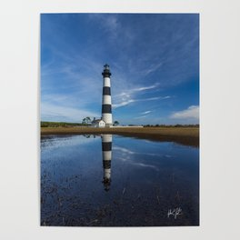 Carolina Blue Skies and Bodie Island Lighthouse Poster