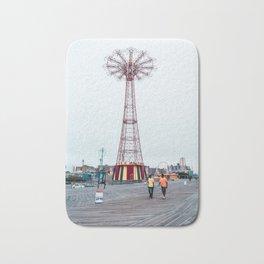 Coney Island: Parachute Jump Bath Mat