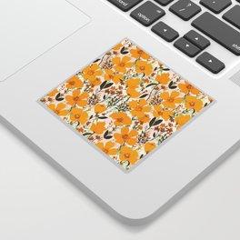 Yellow roaming wildflowers Sticker