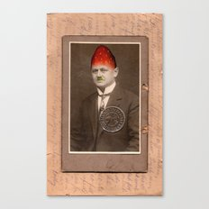 Cabinet Photo repainted - Strawberry Head Canvas Print