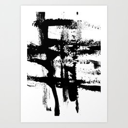 Brush Stroke Art Art Print