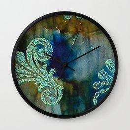 Crystal Fanfare Ink #5 Wall Clock