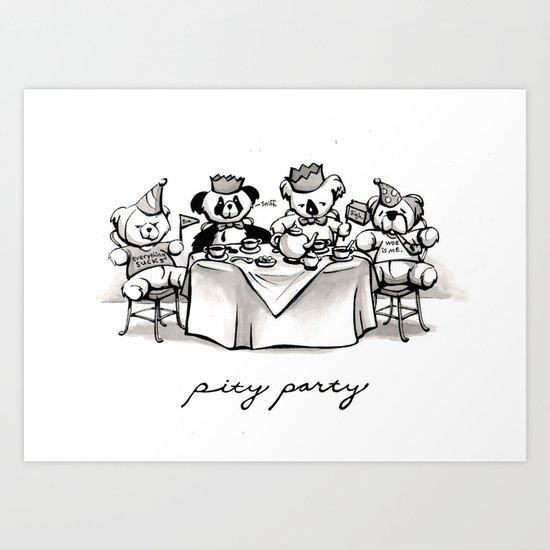 Pity Party Art Print