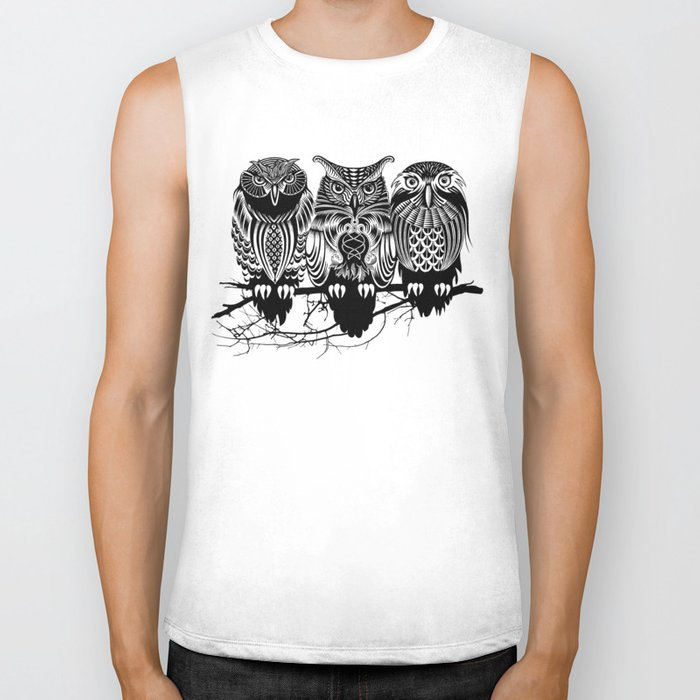 Owls of the Nile Biker Tank