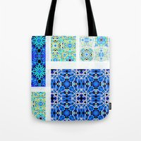 calm Tote Bags featuring Calm by k_c_s