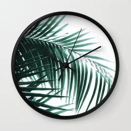 Palm Leaves Green Vibes #8 #tropical #decor #art #society6 Wall Clock