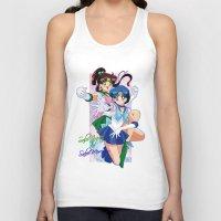 sailor jupiter Tank Tops featuring Sailor Mercury and Sailor Jupiter by Neo Crystal Tokyo