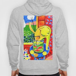 Henri Matisse - Le Chat Aux Poissons Rouges 1914, (The Cat With Red Fishes) Artwork Hoody