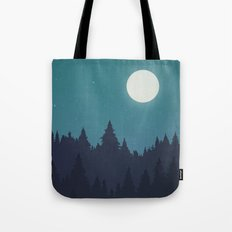 Tree Line - Turquoise Tote Bag