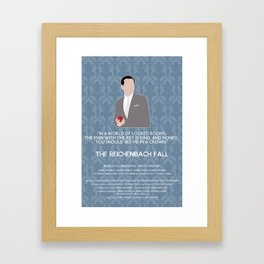 The Reichenbach Fall - Jim Moriarty Framed Art Print