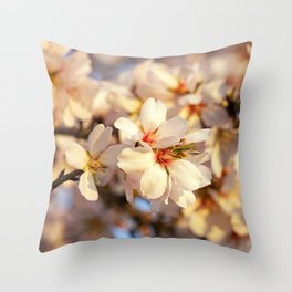 Almond Blossoms Throw Pillow