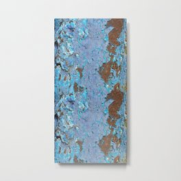 Blue rust Metal Print