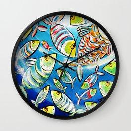 Banc de poissons Wall Clock