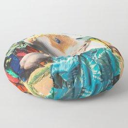 Aloha Guinea Pig On Hawaiian Beach Floor Pillow