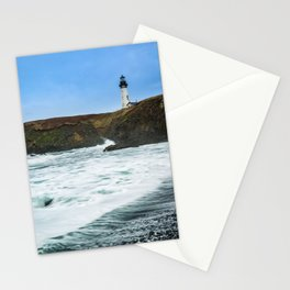 Receding waves at Yaquina Head Lighthouse in Newport, Oregon Stationery Cards